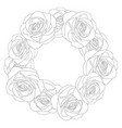 rose wreath outline vector image
