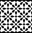seamless black and white pattern with tile print vector image