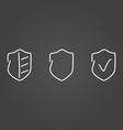 Security set icons draw effect vector image vector image