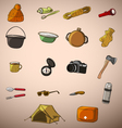 Set of twenty things travel vector image vector image