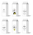 Set smiling paper packs 012 vector image vector image