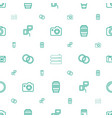 shutter icons pattern seamless white background vector image vector image
