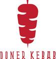 simple flat doner kebab vector image vector image