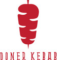 simple flat of doner kebab vector image vector image