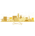 sioux city skyline golden silhouette vector image vector image