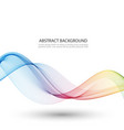 smooth wave vector image vector image