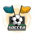 soccer tournament league vector image vector image