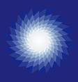 Spiral radiating sun burst on vector image vector image