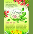 spring holiday sale floral poster vector image vector image