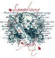 symphony death vector image vector image