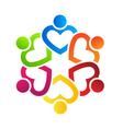 Team Heart 6 vector image
