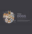 template of a banner for a dog shop vector image vector image