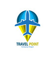 travel point logo vector image vector image