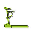 treadmill machine fitness icon image vector image vector image