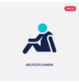two color helpless human icon from feelings vector image vector image