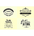 Typography bakery badge design set vector image vector image