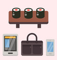 vintage styled design hipster icons signs vector image