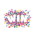 Win text vector image vector image