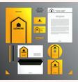 yellow and black branding set vector image