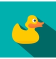 Yellow duck for bath flat icon vector image vector image