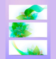 abstract background with green sheet vector image vector image
