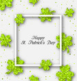 abstract banner with clovers for happy st vector image vector image