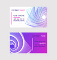 abstract design set business cards vector image vector image