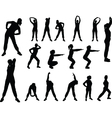 aerobics girl 4 - vector image vector image