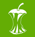 apple core icon green vector image vector image