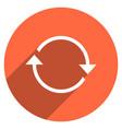 arrow sign refresh icon circle button vector image vector image