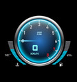 auto speedometer or car tachometer motorcycle vector image vector image