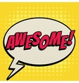 Awesome comic book bubble text retro style vector image vector image