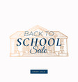 back to school autumn sale abstract label vector image
