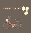 Birthday bike vector image vector image