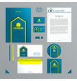 blue and lemon color branding set vector image