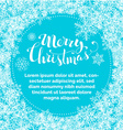 Blue Merry Christmas background vector image vector image
