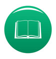book deployed icon green vector image vector image