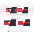 business card template one-to-one dimensions for vector image