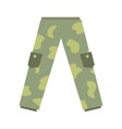 Camouflage trousers flat icon vector image vector image
