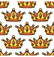 cartoon emperor crowns seamless pattern vector image vector image