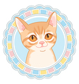 cartoon little cat vector image vector image
