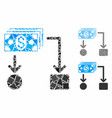 cashflow composition icon unequal parts vector image vector image
