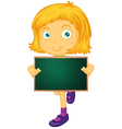 Character Holding Blackboard vector image vector image