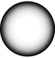 circle icon in graphical black and white gradient vector image vector image