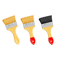 Clean paint brush on white background vector image vector image
