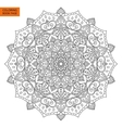 Coloring Book Page with Mandala Outline vector image vector image