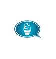 creamy cupcake kuchen for logo design muffin in vector image vector image