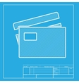 Credit Card sign White section of icon on vector image vector image