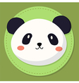 Cute Panda Head Cartoon vector image