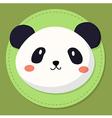 Cute Panda Head Cartoon vector image